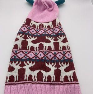 Dog Sweater Pink Sz: L